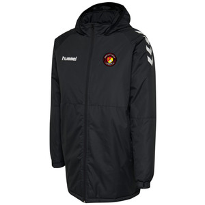 EUFC, Bench Coat by hummel. Available now from Andreas Carter Sports.