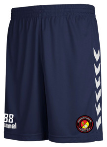 EUFC, Academy Away Match Short by hummel. Available now from Andreas Carter Sports.