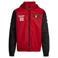 EUFC, Scholars Waterproof Travel Jacket by hummel. Available now from Andreas Carter Sports.