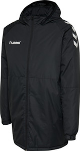 hummel, Hybrid Bench Coat by hummel. Available now from Andreas Carter Sports.