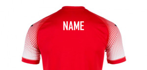 Back Name Printing, by Ascar. Available now from Andreas Carter Sports.
