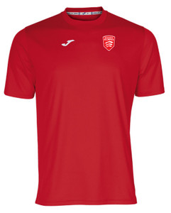 UoE, Red Combi Tee by Joma. Available now from Andreas Carter Sports.