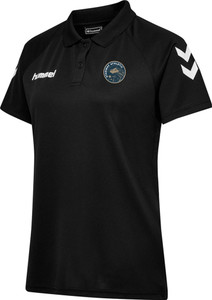 Stanway Athletic, Black Polo by hummel. Available now from Andreas Carter Sports.