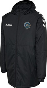 Stanway Althletic, Bench Coat by hummel. Available now from Andreas Carter Sports.