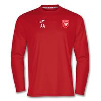 Essex Blades Long Sleeve Training Tee Red