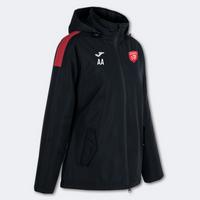 Essex Blades Women's Rain Jacket Black Red