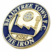 Braintree Town Pin Badge by Ascar. Available now from Andreas Carter Sports.