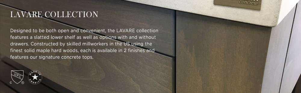 Lavare Vanities Collection