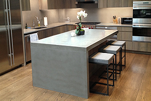 Concrete Kitchen Countertops With Waterfall Legs ...
