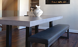 Trueform Concrete Custom Concrete Tables for dining, living, kitchen, business, restaurant, hotel, bar, hospital, school, college