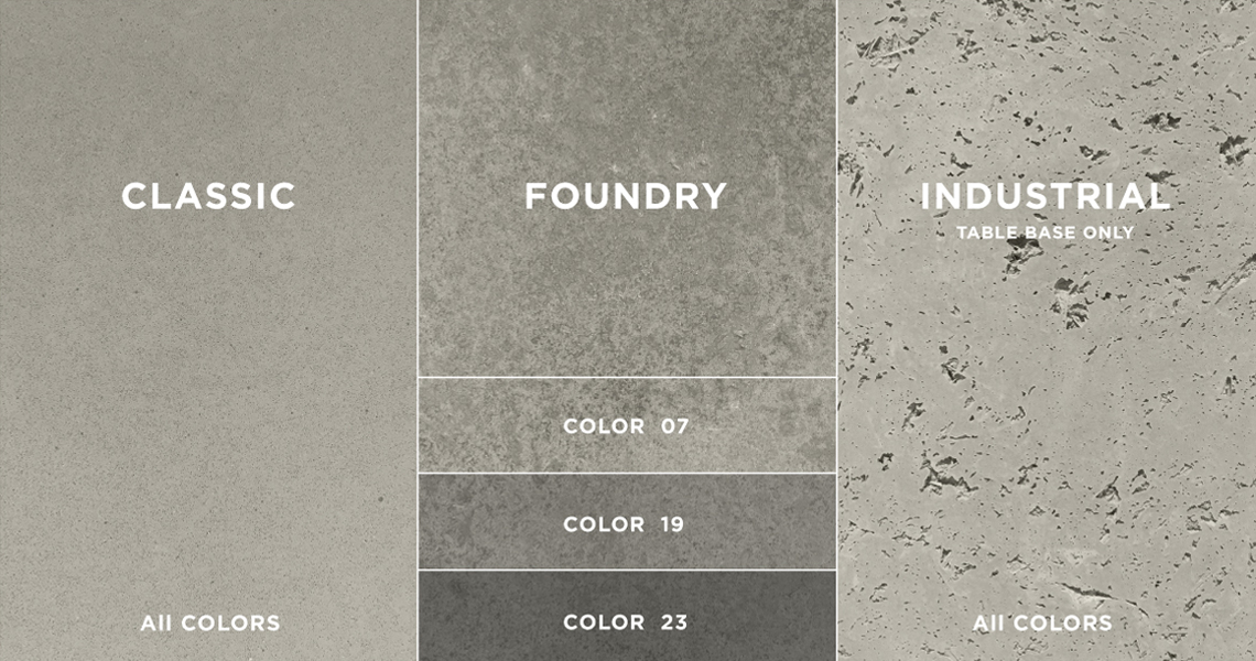 Concrete Table Finishes