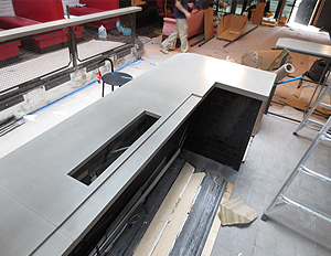 Trueform Concrete Custom Concrete Reception Desk