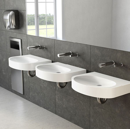 Ellipsa Concrete wall-mount sink