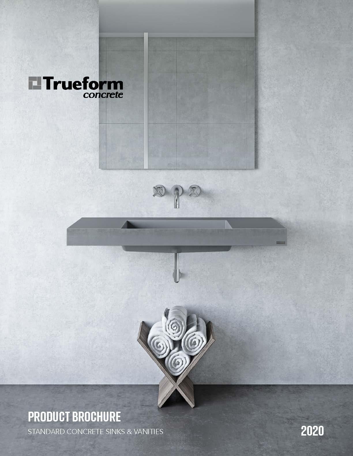 Trueform Concrete Sink Brochure 2020