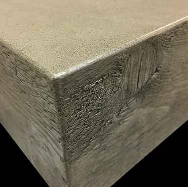 Concrete wood edge