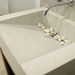 """Trueform 24"""" Lavare Vanity with Concrete Ramp Sink is a modern sink with contemporary features for the bathroom, or powder room. Vanity top integral sink with base. Concrete shown in Limestone : Base in Chocolate. Wharton, New Jersey"""