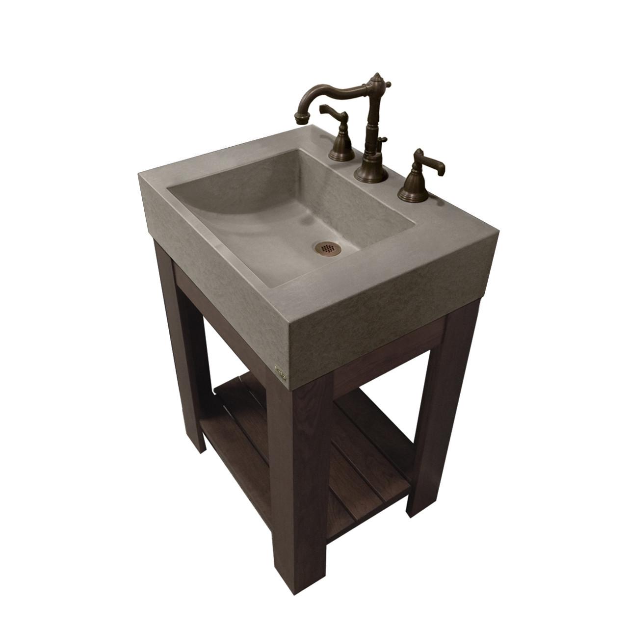 Picture of: 24 Lavare Vanity With Concrete Half Trough Sink