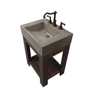 "24"" LAVARE VANITY WITH HALF-TROUGH SINK"