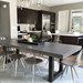 Trueform's Zen Concrete Dining Table is a nice addition to any dining or family room. Perfect as a conference table. Wharton, New Jersey. Kitchen or conference table. Concrete shown in Graphite