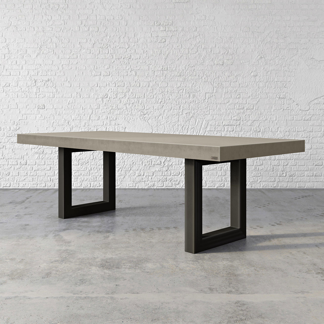 Trueforms zen concrete dining table is the focal point in any dining or family room