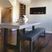 """Trueform's Zen Concrete Dining Table is a nice addition to any dining or family room. Perfect as a conference table. Wharton, New Jersey. Kitchen or conference table. Concrete shown in the color """"Concrete"""""""