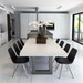 Trueform's Zen Concrete Dining Table is a nice addition to any dining or family room. Perfect as a conference table. Wharton, New Jersey. Kitchen or conference table. Concrete shown in White Linen