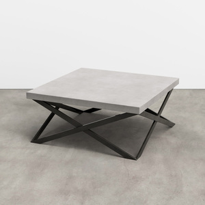Trueform Mobius Concrete Coffee Table for any living, dining, or waiting room. Wharton, New Jersey. Concrete shown in Limestone