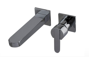 Trueform Concrete - Fluid Wisdom Wall Mounted Faucet Trim (Requires additional Rough in) - dual Purpose: with aerator for Lavatory or with flow straightener for tub filler)