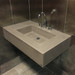"30"" ADA Floating Concrete Rectangle Sink FLO-30N-ADA Concrete Color shown in Taupe"
