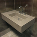 """30"""" ADA Floating Concrete Rectangle Sink FLO-30N-ADA Concrete Color shown in Taupe"""
