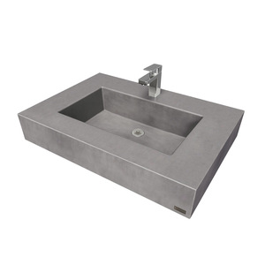 "30"" ADA Floating Concrete Rectangle Sink FLO-30N-ADA Concrete Color shown in Graphite"