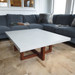 Trueform Concrete Custom Table Tops. A nice addition to any dining or family room. Kitchen table. Perfect as a conference table. Wharton, New Jersey. Concrete shown in the color Limestone