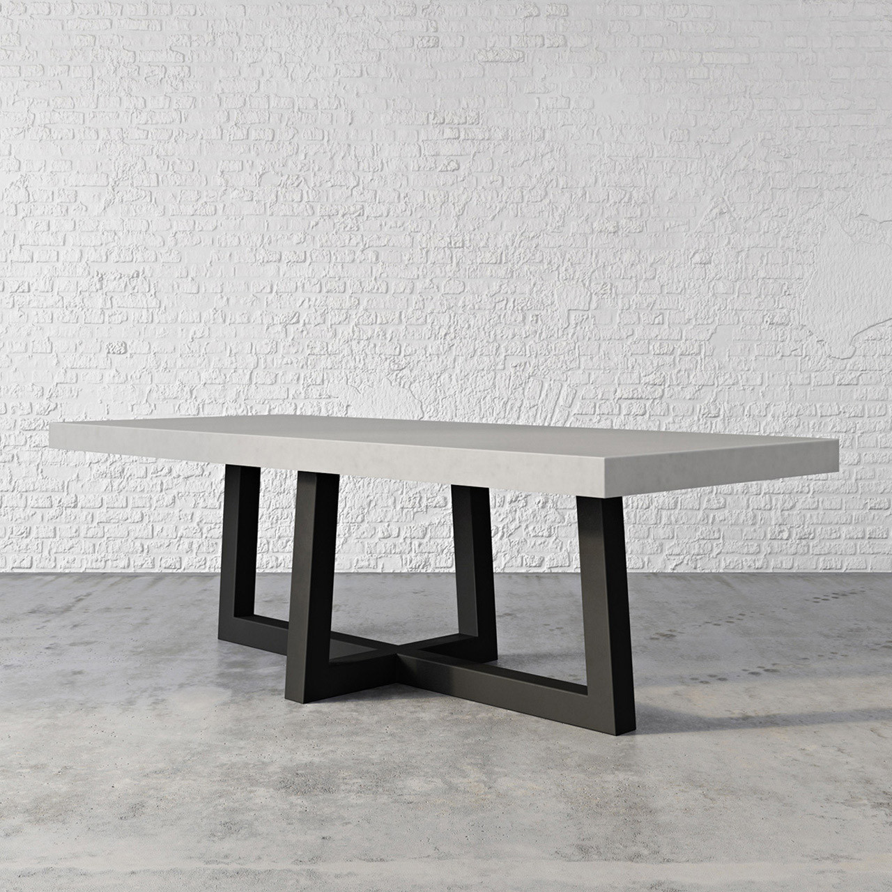 Torre Rectangle Concrete Dining Table