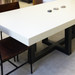 Trueform Torre Rectangle Concrete Dining & Kitchen Table is a nice addition to any dining or family room. Perfect as a conference table. Wharton, New Jersey. Kitchen Table. Concrete shown in the color White Linen