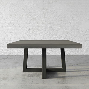 Trueform Torre Square Concrete Dining & Kitchen Table is a nice addition to any dining or family room. Perfect as a conference table. Wharton, New Jersey. Kitchen table. Concrete shown in the color Dusk.