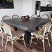 Trueform Zen Square Concrete Dining Table is a nice addition to any dining room  or kitchen. Perfect as a conference table. Wharton, New Jersey. Concrete shown in the color Charcoal