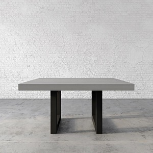 Trueform Zen Square Concrete Dining Table is a nice addition to any dining room  or kitchen. Perfect as a conference table. Wharton, New Jersey. Concrete shown in the color Graphite.