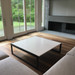 Trueform Zen Concrete Coffee Table for any living, dining, or waiting room. Wharton, New Jersey. Concrete shown in the color White Linen