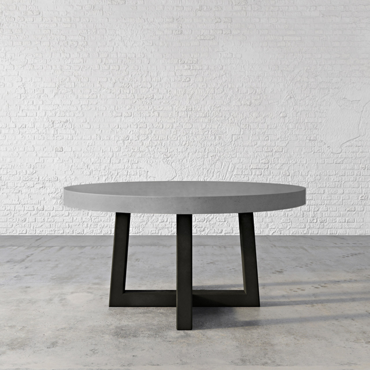 Trueform Torre Round Concrete Dining Table Is A Nice Addition To Any Dining  Or Family Room