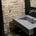 "Trueform 24"" ADA Floating Concrete Bathroom Sink is designed for a restaurant, bar or hotel and meets requirements for thickness, set backs and clearances. Wharton, New Jersey. Concrete  color = Graphite"