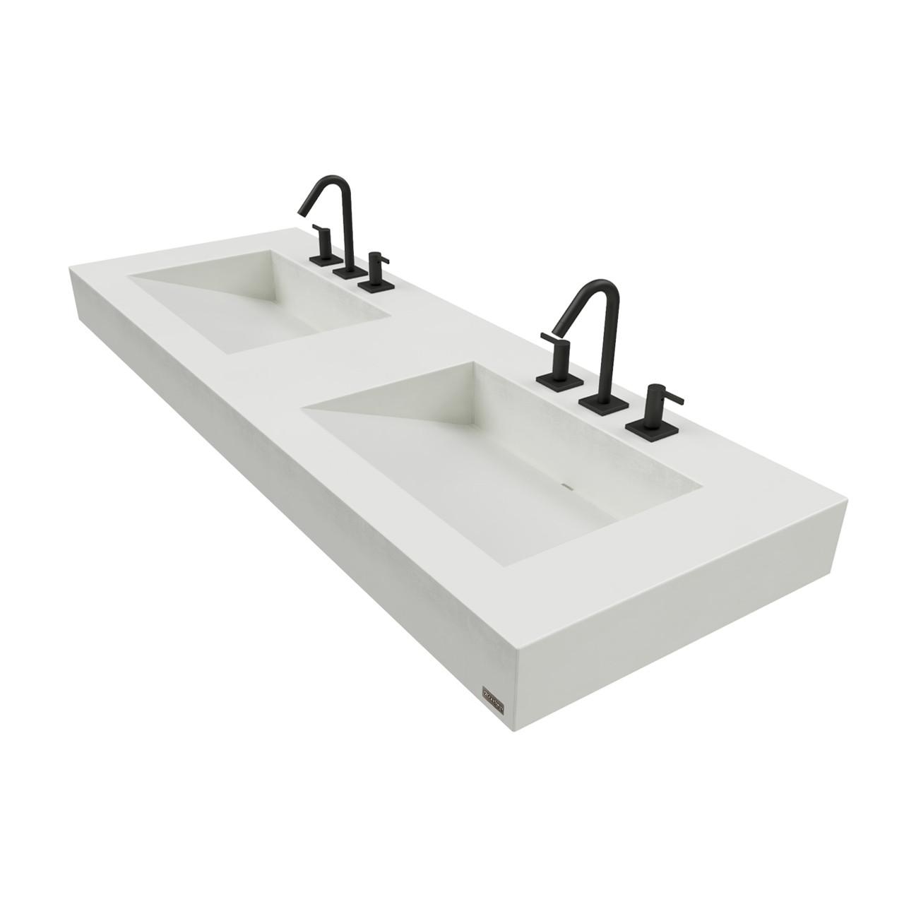 Trueform Ada Floating Concrete Bathroom Sink