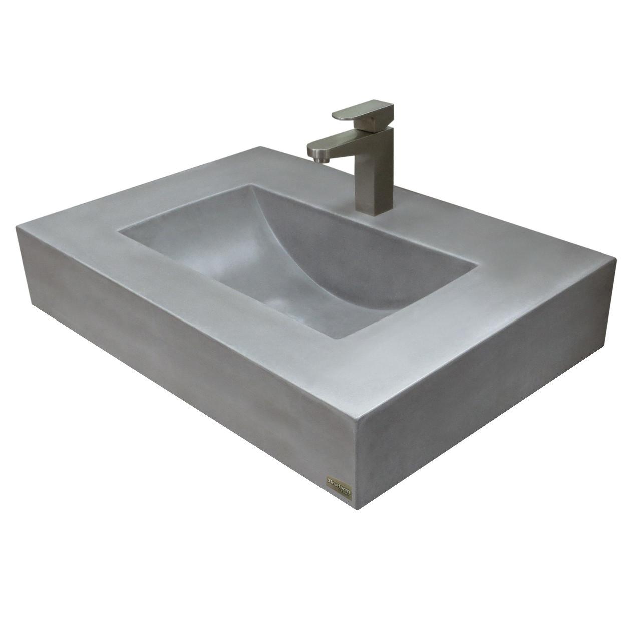 Picture of: 30 Floating Lacus Concrete Sink Trueform Concrete