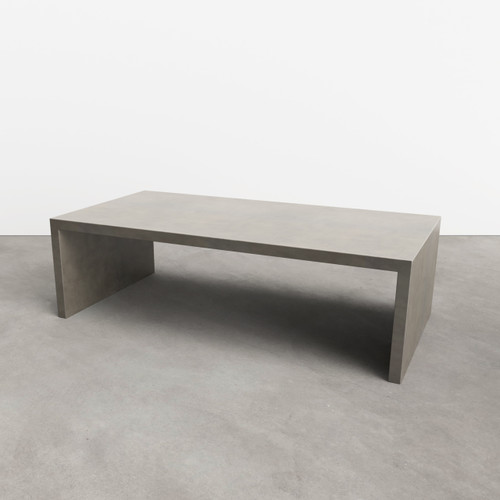 Trueform Circa Concrete Coffee Table is a nice addition to any living room or family room. Wharton, New Jersey. Concrete shown in Pewter.
