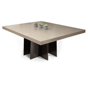 Clodagh Design Mesa Concrete Dining Table by Trueform Concrete Concrete shown in Pewter