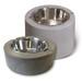 Clodagh Doggie Dinnerware by Trueform Concrete shown in Graphite Maxi Concrete shown in Pewter Mini