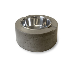 Clodagh Doggie Dinnerware by Trueform Concrete shown in Pewter