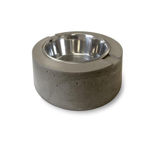 Clodagh Doggie Dinnerware by Trueform Concrete shown in Pewter