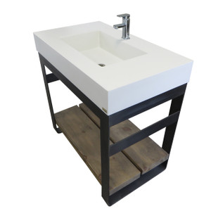 "36"" OUTLAND VANITY WITH RECTANGLE SINK"