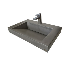 "20"" CONTEMPO FLOATING CONCRETE ADA RAMP SINK"
