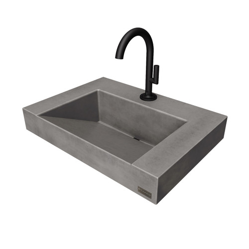 Flo-20V-CONTEMPO  Single Lever faucet Shown in the color Charcoal